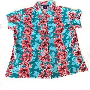 Exofficio Hawaiian Floral Button Down Shirt- M